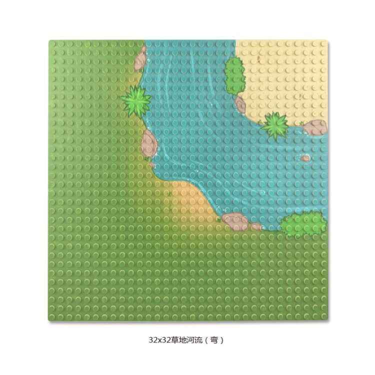 Legoing Base Plates Plastic Grassland River Small Baseplates Village Dimensions Block Construction 32*32 Dots BasePlate Legoings
