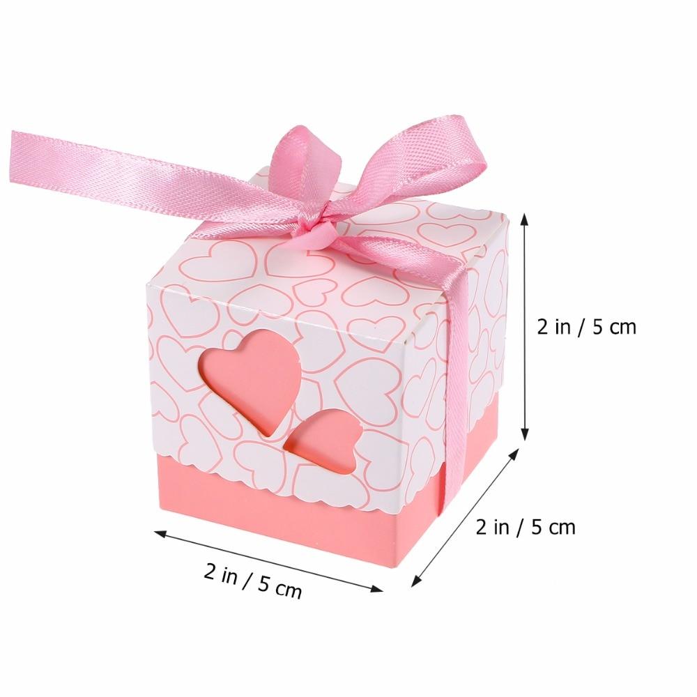 Easter 100pcs Novelty Double Hollow Love Heart Design Wedding Favor ...