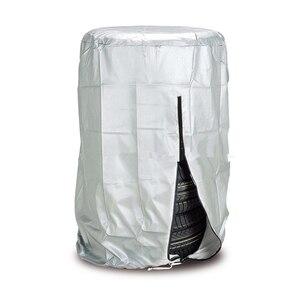 Image 1 - 車のタイヤカバー 4 ホイールスペアタイヤカバーシルバータイヤアクセサリー冬の夏ポリエステルタイヤプロテクター storag バッグ