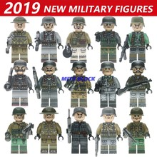 Legoinglys Single Sale WW2 Motorcycle Soldiers Military Figures Guns Army Weapons Accessories Building Block Brick Children Toy(China)