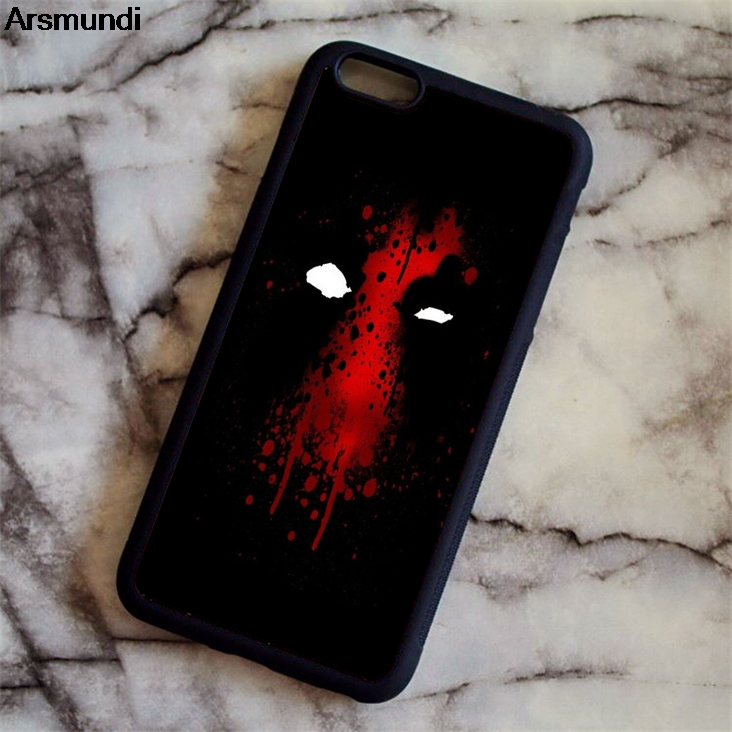 Arsmundi Super Hero Deadpool theme Phone Cases for iPhone 4S 5C 5S 6 6S 7 8 Plus X for Samsung S8 Case Soft TPU Rubber Silicone