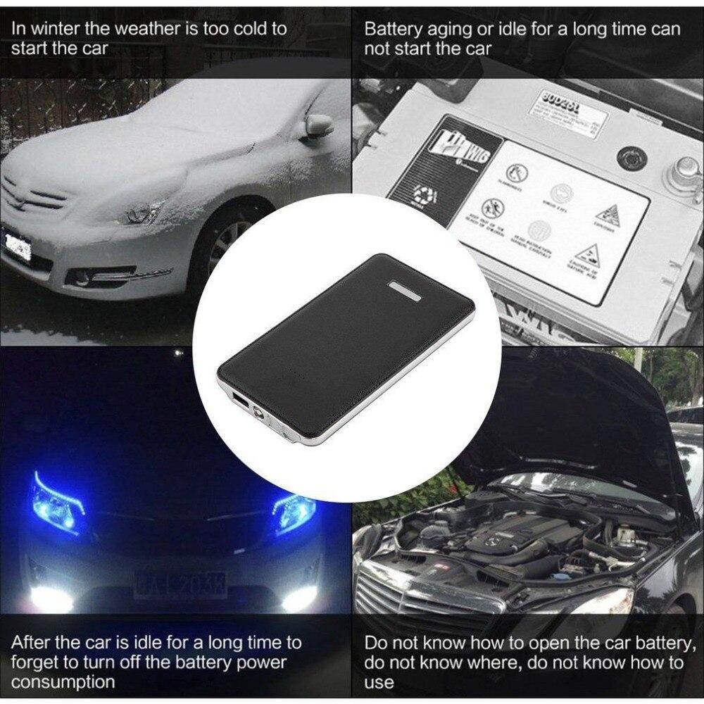 Portable Car Jump Starter Power Bank 12v Car Boost Mini Pocket Size Battery Starter