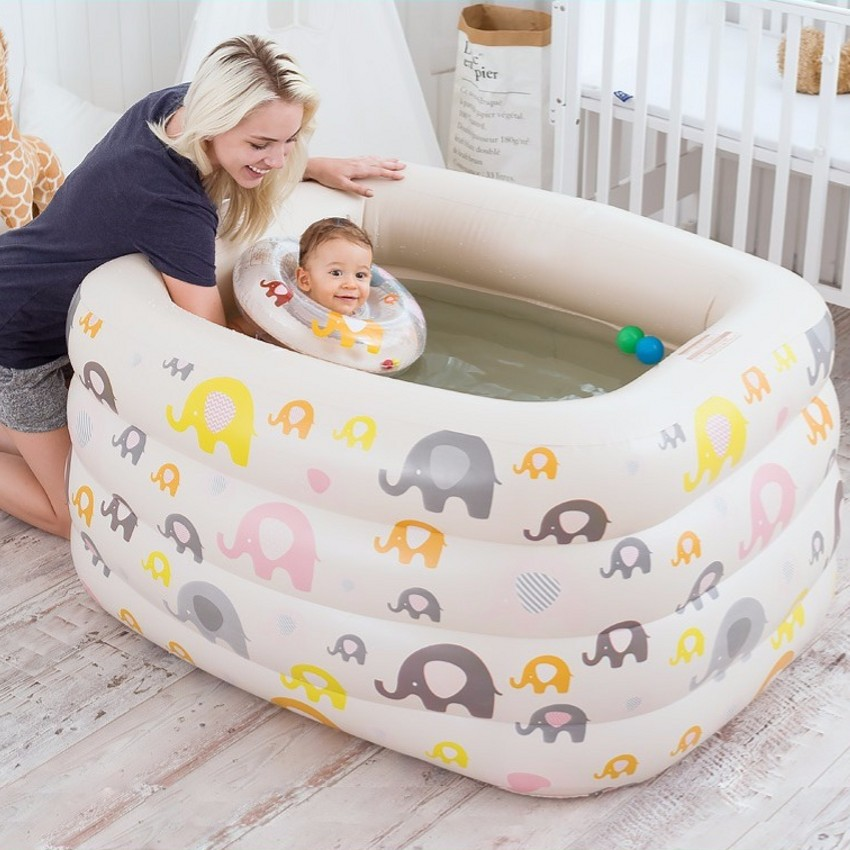 Summer Baby Swimming Pool Inflatable Infant Toddler Water Playing Game Pools Folding Eco-friendly PVC Newborn Tub Swimming Pools thickened swimming pool folding eco friendly pvc transparent infant swimming pool children s playing game pool