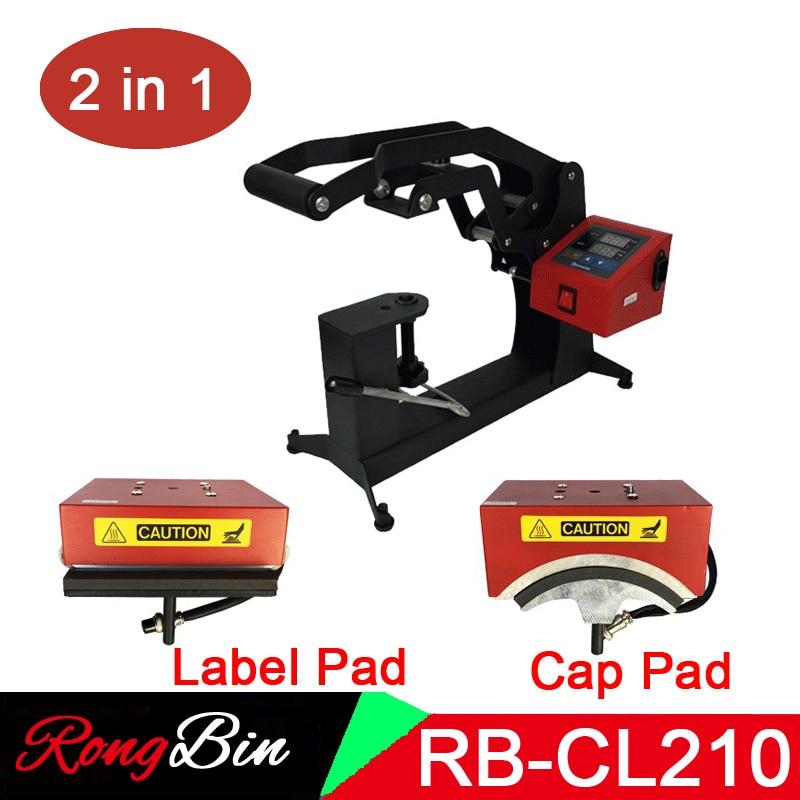 2 in 1 Digital Double Display Cap Heat Press Machine 15x15CM Logo Printer DIY Sublimation Printer Label Printing Machine|Printers| |  - title=