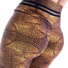 New Women Fitness Push Up Leggings High Waist Workout Legging Pants Fashion Female Snake Skin Printed Elastic Leggings Plus Size snake skin ripped leggings