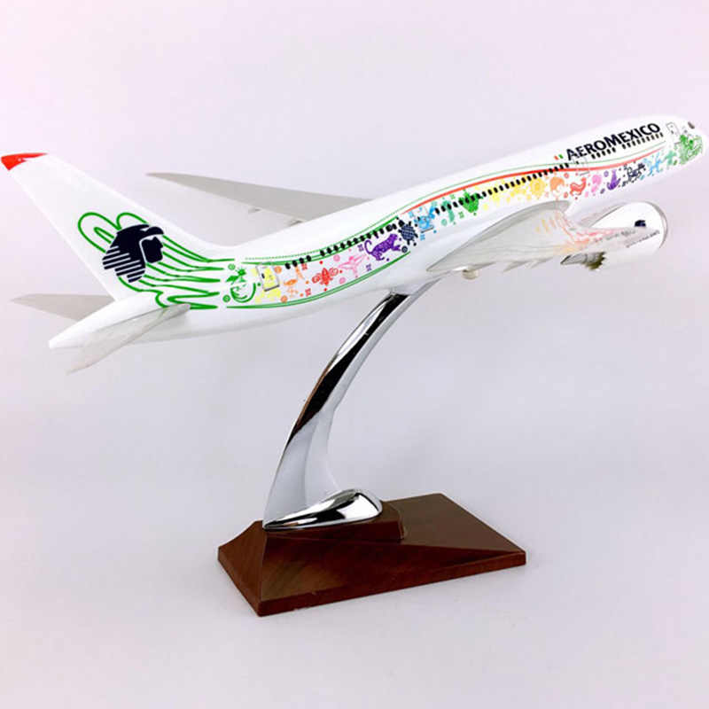 c442ffbb4417f5 36CM 1:150 Scale Boeing B787-800 Model AEROMEXICO Airlines With Base Airbus  Metal