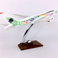 36CM 1:150 Scale Boeing B787 800 Model AEROMEXICO Airlines With Base Airbus Metal Alloy Aircraft Plane Collectible Display Model