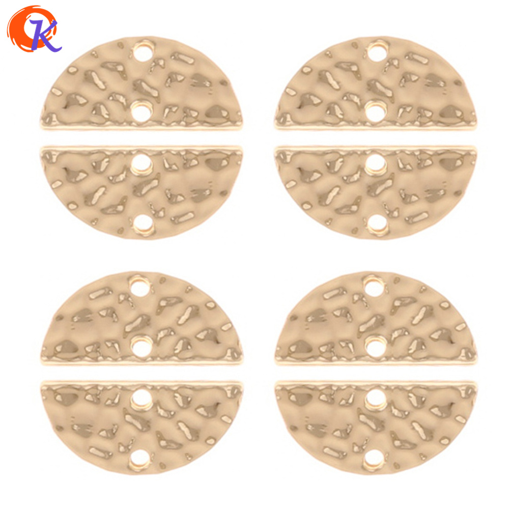 Cordial Design 100Pcs 8*15MM Jewelry Accessories/Connectors Jewelry/Zinc Alloy/Gold Half Round Shape/Hand Made/Earring Findings