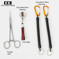 Fly Fishing Accessories Vest Pack Tool Combo Line Nipper Hemostat Forceps Retention Rope
