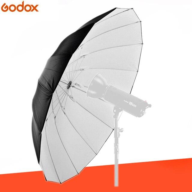 """GODOX sombrilla reflectora de 150CM, 60 """", negra/blanca, para fotografía de estudio, flash, para exteriores"""