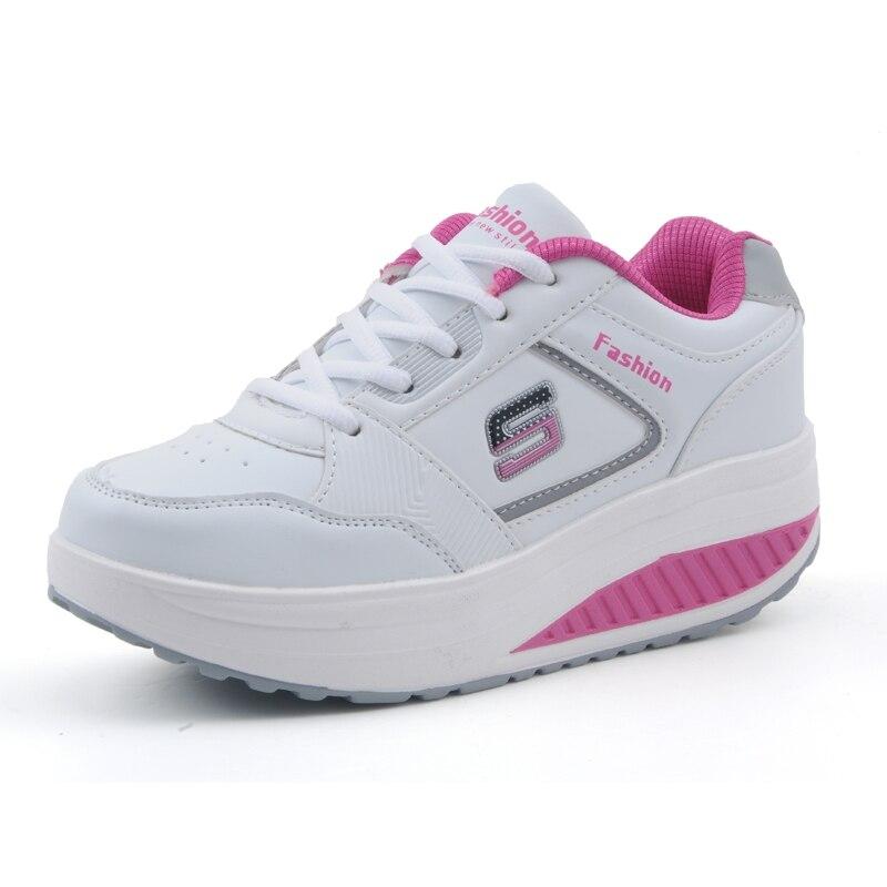 Cuero de la pu Women Shoes Casual Shoes Femlae Cómodo Moda Sacudió sus Adelgazam
