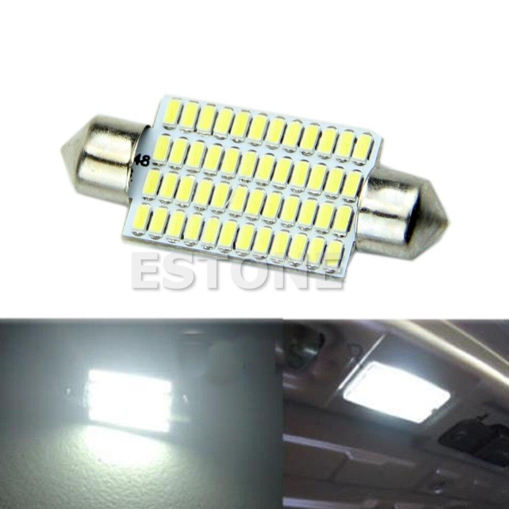 1 ШТ. 42 мм 3014 48 SMD <font><b>LED</b></font> Автомобилей Интерьер Купола Фестона Белый Лампочки Lamp-Y102