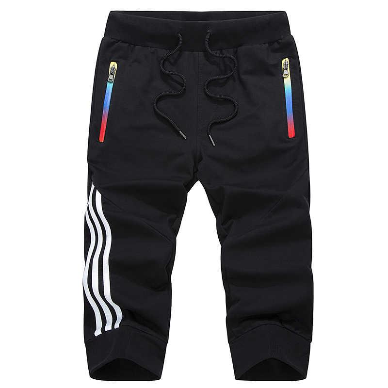 Pantalones cortos casuales de verano para hombre a rayas ropa deportiva transpirable cintura elástica Hombre Pantalones cortos Homme talla grande 4XL 5XL