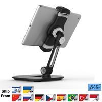 Multifunction 360 rotação 4-13 polegada tablet pc suporte/suporte do telefone móvel base de metal universal dobrável preguiçoso tablet suporte 204d