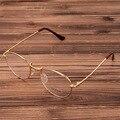 Gold Vintage Glasses Frame Women Men Retro Round Metal Eyeglasses Frame Bronze Myopia Glasses Classical Eyewear Goggles