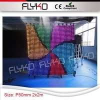 P50mm送料無料良い精細柔軟な屋内高品質ledベストセラービデオステージカーテン7フィートx d結婚式コンサート