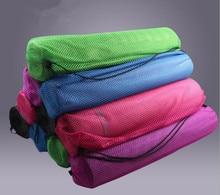 Envío Gratis Multicolor Nylon Yoga Mat Bag Carrier Mesh Center Correa #2072 B1