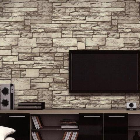 10M vintage stone brick wallpaper stone wall textured ...