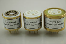 1PC 7199(Top) TO 6U8 (Bottom) 9Pins TO 9Pins Tube DIY Audio Vacuum Tube Adapter Socket Converter Free Shipping