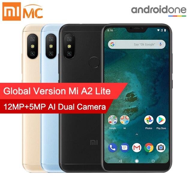"Versión Global Xiaomi mi A2 Lite 3 GB 32 GB teléfono inteligente 5,84 ""Pantalla Completa"" Snapdragon 625 Octa Core 12MP + 5MP Dual Camera 4000 mAh CE"
