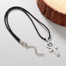 Chandler Egyptian Ankh Cross Necklace For Women Men Anubis Amulet Charm Old Ancient Egypt Gold Retro Goddess Callars Wholesale(China)