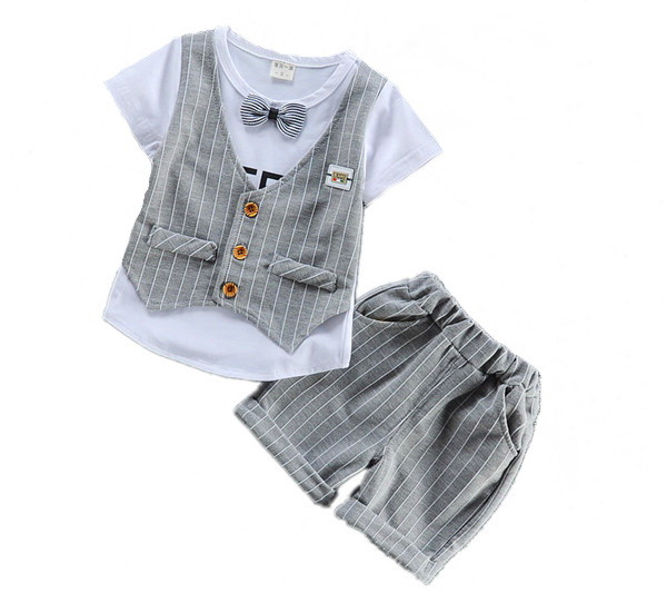 2017 summer Children Clothing Sets Kids Clothes Suits Boys Gentleman Fashion Wedding Formal Clothes Sets Vest Shirt Pant 1-4  baby boys suits clothes gentleman suit toddler boys clothing infant clothing wedding birthday cotton summer children s suits