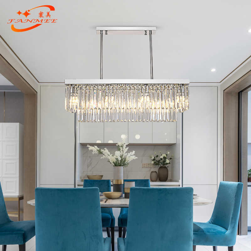Modern Odeon Crystal Chandelier Lighting Retro Nordic LED Chandelier Hanging Light Clear K9 Crystal Prism Chandelier Lamp