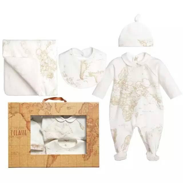 Romper do bebê terno manter quente Mapa impressão de puro algodão roupa do bebê macacões peças terno por atacado