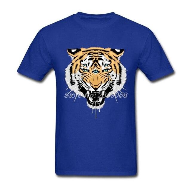 T Cool 3D Courtes Manches Tigre Hommes Animal chemise À Impression t nvHS8wq