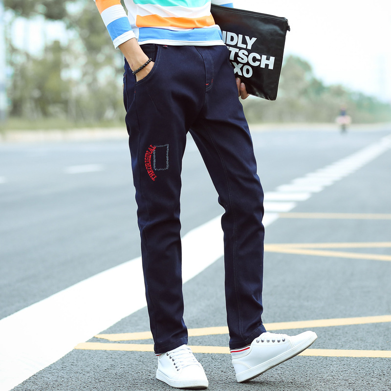 2017 Summer Men's Jeans Brand Clothing High Quality Casual Blue Mid Waist Straight Denim Jeans Elastic slim clother harem solid fongimic new men clothing summer thin casual jeans mid waist slim long trousers straight high quality men s business denim jeans