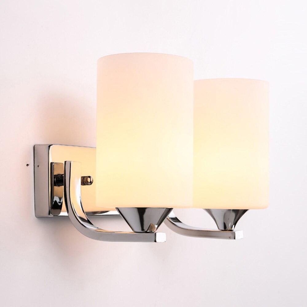 ФОТО Modern simple bedroom bedside lamp balcony aisle lamp bathroom light living room wall lamp LED single head fashion wall sconce