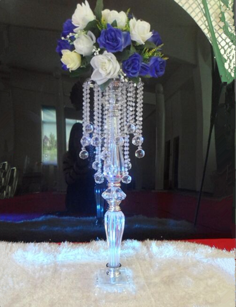 Бесплатный транспортировкой флэш-акриловая ясно цветок стенд дорога приведет decorat свадьбы центральным Люстра для вечерние события украшен...