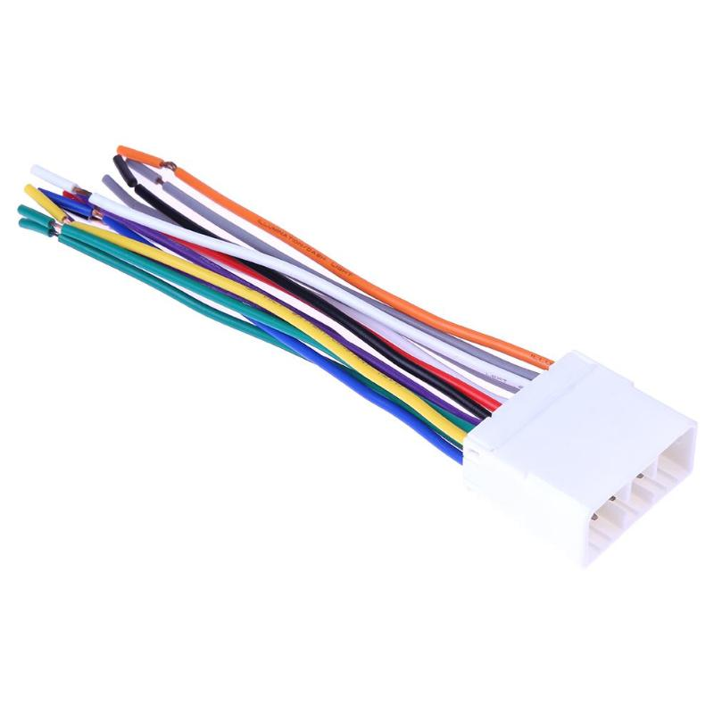 1pcs Stereo Cd Player Radio Wiring Harness 14pin Wire