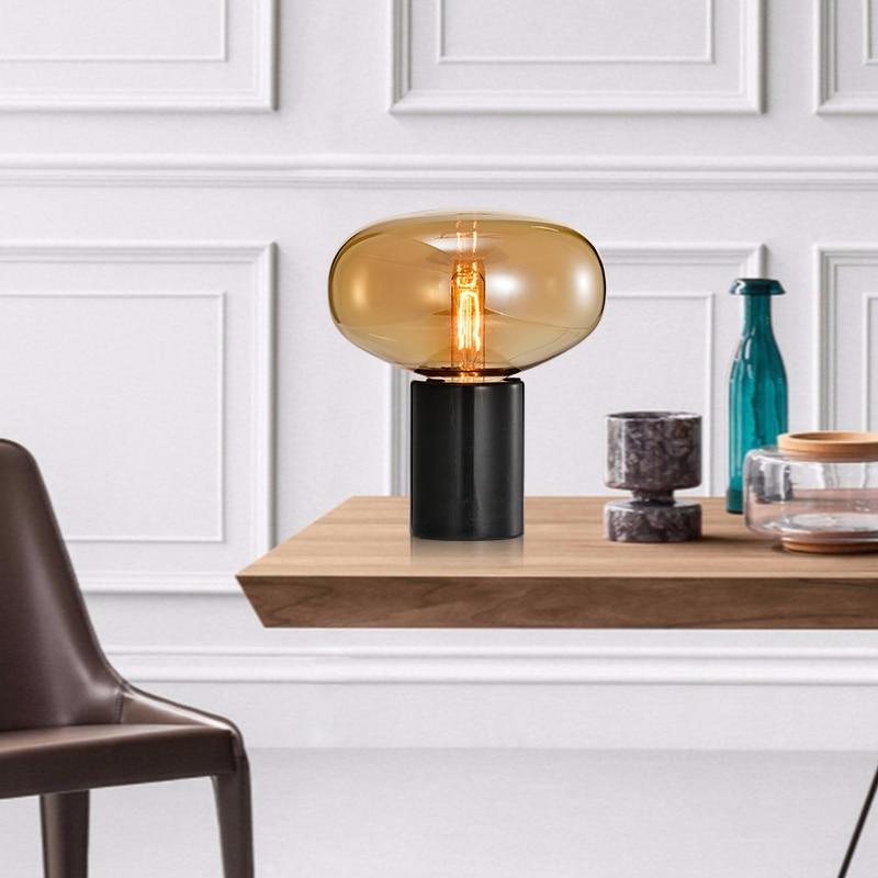 Nordic stil nacht lampe wohnzimmer glas hotel einfache post moderne schlafzimmer kreative büro zimmer lampe - 4