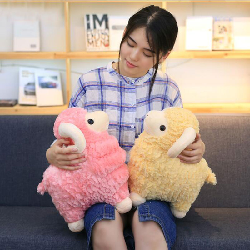 CXZYKING Cute Goat Lamb Soft Plush Toys 3 Colors Stuffed Sheep Soft Animal Doll Toy for Baby Kids Gift 1pcs 35cm 5 colors cute stuffed plush toy toot sheep soft doll with scarf toys gift for girl free shipping