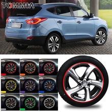 8M Car Wheel Hub Rim Edge Protector Ring Tire Strip Guard Rubber Decals For Hyundai ix35