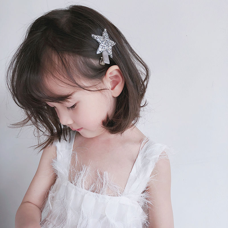Children Crystal Rhinestones Shiny Star Hairgrips Baby Hair Pins Girls Accessories Star-Shape Lovely Style Snap Clips