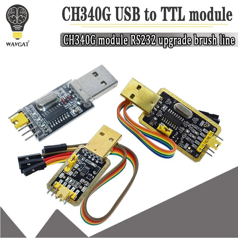 CH340 модуль USB к TTL CH340G обновление загрузка небольшой проволочной щетки пластина STC микроконтроллер Плата USB к последовательному вместо PL2303