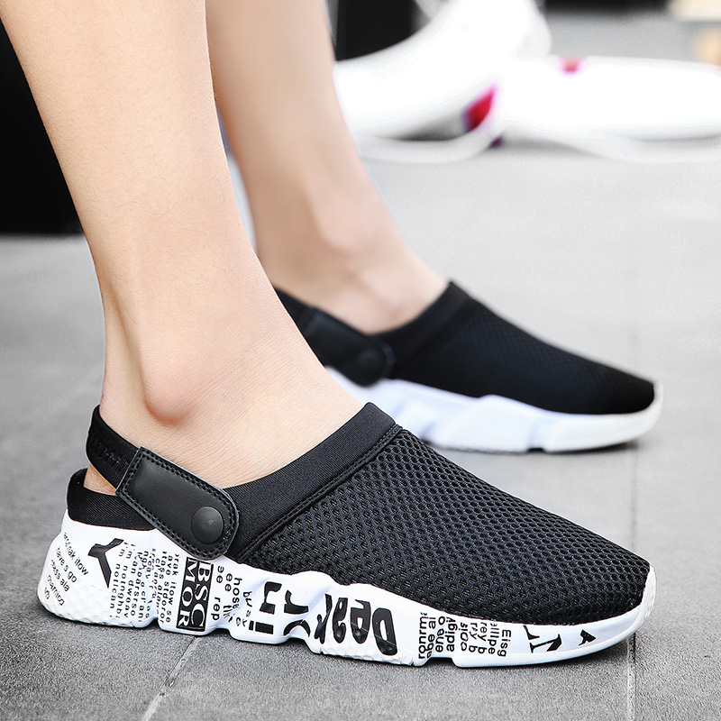 Sandals Men Slippers Air Mesh Shoes Mules Clogs (55)