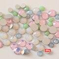 Mix Opal Colors 800pcs SS6 Flat Back Nail Art decorations Glass Crystal Glue On Non Hotfix rhinestone For Nails  H0886