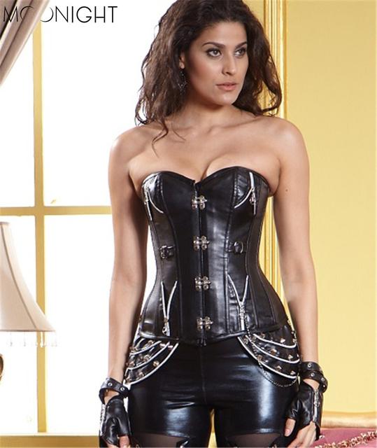 Sexy Corset Overbust mulheres Espartilhos corpo Corpete corpetes gótico Wasit de Corsetti de xxl