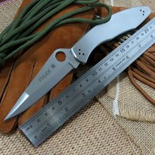 New EDC Tool C07P folding knife 9cr18mov blade C07 knife stainless steel Handle outdoor camping pocket knife hand tools