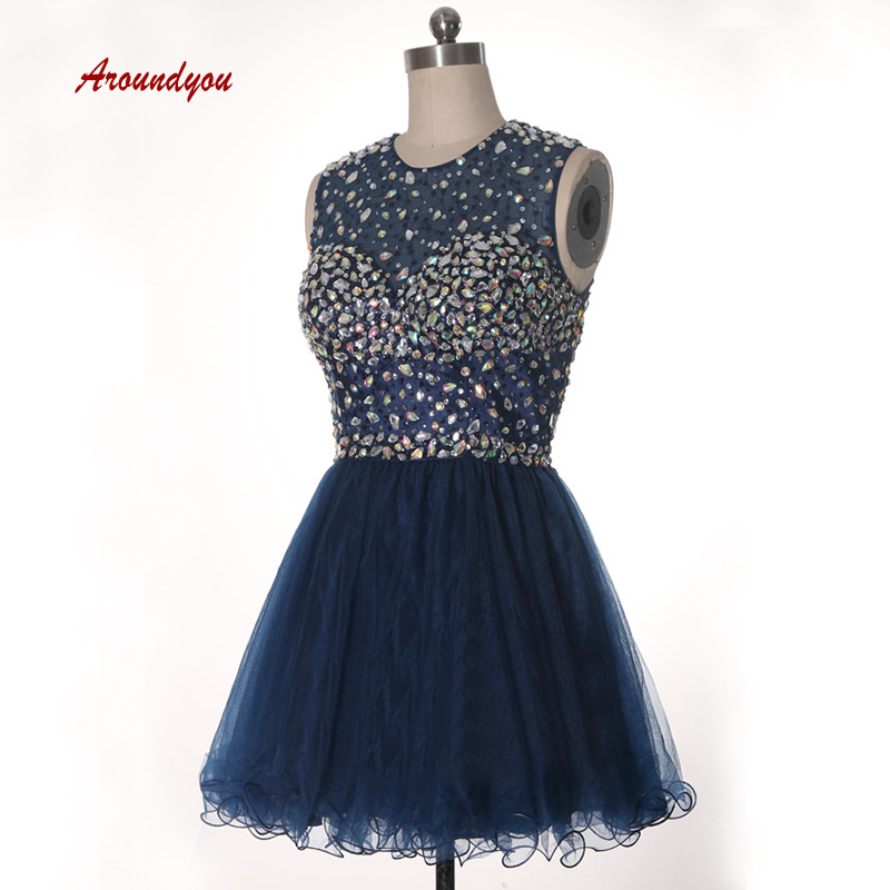 Sexy Navy Blue Short   Cocktail     Dresses   coktail Halter Graduation Party Prom Homecoming   Dresses