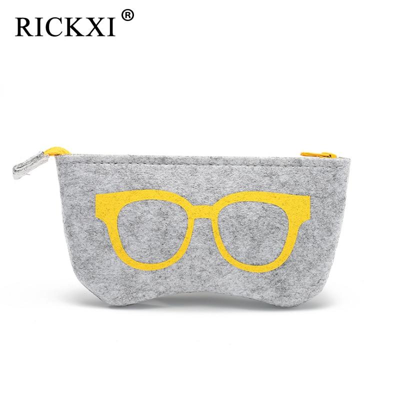 Top-grade Felt Cloth Sunglasses Boxes Women High Quality Luxury Fabric Glasses Case Eyeglasses Box Eyewear Accessories