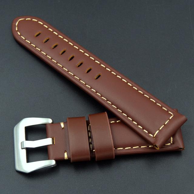 Фото ремешок из натуральной кожи для часов panerai omega seiko 22 цена
