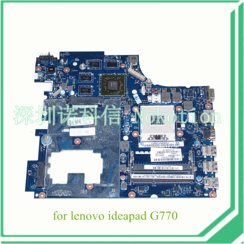 NOKOTION PIWG4 LA-6758P REV 1A For Lenovo ideapad G770 17'' Laptop motherboard HD3000 Radeon HD 6650M 1GB DDR3 free shipping new piwg4 la 6758p rev 1a mainboard for lenovo y770 g770 motherboard with amd 6650m graphic card