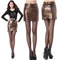 H & Q Nuevo 2017 Verano Moda Mujer Leopardo Mini Faldas Para Mujer Sexy Leather Pencil Skirt Felmale OL Faldas Vendaje 01-125