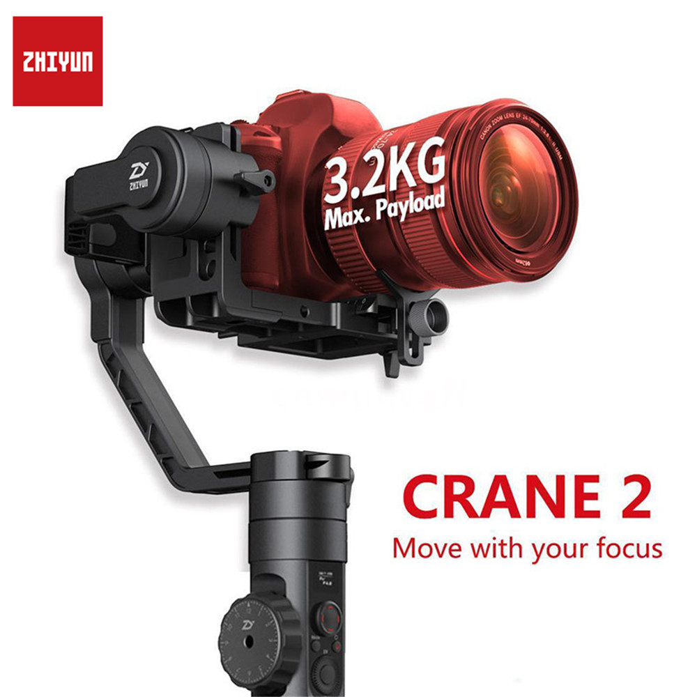 Zhiyun Crane 2 3-Axis Handheld Gimbal Video Camera Gyro Stablizer Brushless and Parts For Canon For Nikon For DSLR Camera Load цена