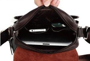 Image 5 - Maletín canguro de marca de diseñador para hombre, bolso de viaje de cuero suave, para negocios, oficina, ordenador, portátil, funda, bolsas de mensajero