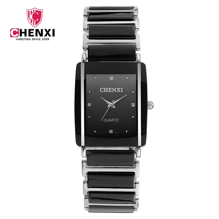 цена на 2018 CHENXI Simulated Ceramics Quartz Watches Men Ladies Top Brand Luxury Famous Wrist Male Clock for Relogio Masculino 104A